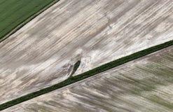 Airshot von Feldern Lizenzfreie Stockbilder