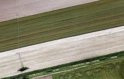Airshot von Feldern Lizenzfreie Stockfotos