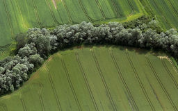 Airshot von Feldern Stockfotografie