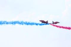 airshow的两名英国飞行员 库存图片