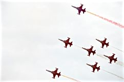 Airshow στρατιωτική Ιταλία Ευρώπη Στοκ εικόνα με δικαίωμα ελεύθερης χρήσης