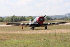 Airshow `100年俄国空军`。 免版税库存照片