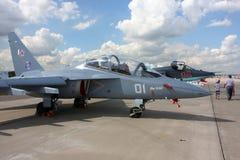 `Airshow 100 русского лет `Военно-воздушных сил. Стоковое фото RF