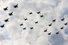 Airshow `100 years Russian air force`. Royalty Free Stock Photography
