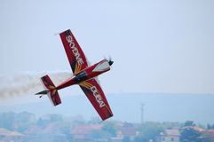 The Airshow. The plane of Péter Besenyei, Hungarian champion, in the airshow on Hungary at 22.05.2011 Stock Photography