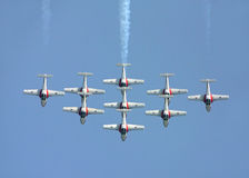 Airshow. Canada snowbirds. Airshow Royalty Free Stock Photo