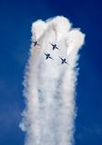 Airshow. Smoke from army jets flying at airshow in Sacramento California Stock Photography