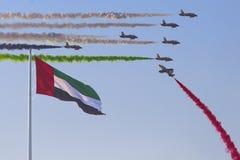 Airshow in Abu Dhabi Lizenzfreie Stockfotos