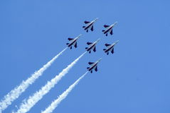 Airshow acrobatics display Royalty Free Stock Photography