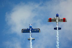 Airshow aeroplanes Stock Images