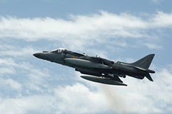 Airshow of the aircraft Harrier AV-B8 Royalty Free Stock Photography