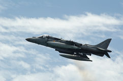 Airshow of the aircraft Harrier AV-B8 Royalty Free Stock Image