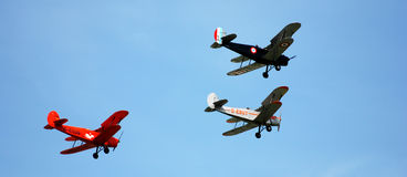 Airshow in Antwerpen Stockbild