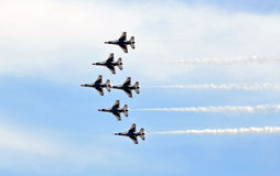 Airshow. Army jets flying at airshow in New Jersey Stock Images