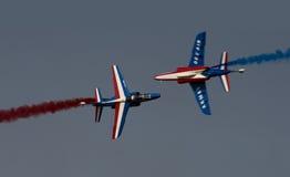 airshow aviojets Ντουμπάι ιταλικά Στοκ φωτογραφία με δικαίωμα ελεύθερης χρήσης
