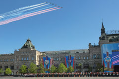 Airshow chez Victory Day Photographie stock