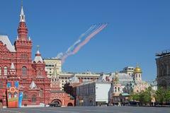 Airshow chez Victory Day Image libre de droits