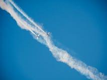Airshow in Daugavpils, Letland bij de dag van tweede WW2 Stock Foto's