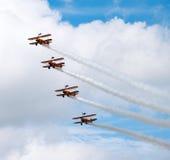 Airshow 2016 de Farnborough dos caminhantes da asa de Breitling Foto de Stock Royalty Free