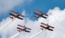 Airshow 2016 de Farnborough dos caminhantes da asa de Breitling Fotografia de Stock Royalty Free