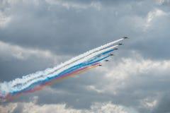 Airshow 2015 de MAKS Foto de Stock Royalty Free