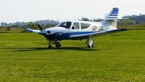 Airshow de petits avions privés sur l'aérodrome image libre de droits