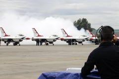 Airshow dos Thunderbirds do U.S.A.F. Fotos de Stock Royalty Free