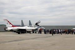 Airshow dos Thunderbirds do U.S.A.F. Fotografia de Stock Royalty Free