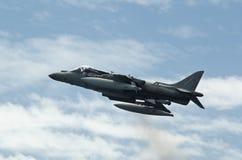 Airshow du harrier AV-B8 d'aéronefs Images libres de droits
