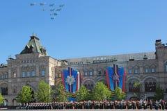 Airshow em Victory Day Fotografia de Stock