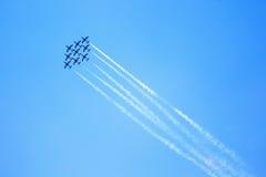 Airshow em Zhukovsky, Rússia Imagem de Stock Royalty Free