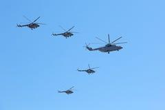 Airshow en Victory Day Foto de archivo