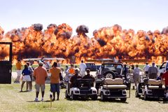 Airshow fire. Here is a photo of a fire display at an airshow Royalty Free Stock Image