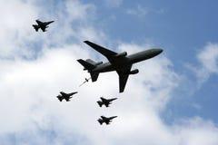 airshow flypast wojskowy zdjęcia stock