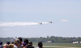 Airshow at Fort Worth TX. People watch Airshow at Fort Worth, TX USA 2016 stock image