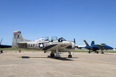 Airshow at Fort Worth TX. Planes at Airshow Fort Worth, TX USA 2016 royalty free stock photos