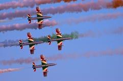 airshow frecce Poland Radom tricolori Obrazy Royalty Free