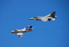 Airshow heritage flight royalty free stock image