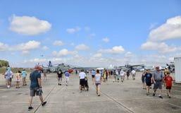 Airshow i Pensacola, Florida Arkivbilder