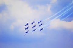 Airshow i Zhukovsky, Ryssland Royaltyfria Bilder