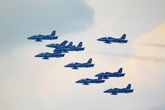 Airshow i Zhukovsky, Ryssland Arkivbild
