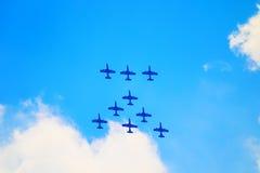 Airshow i Zhukovsky, Ryssland Arkivbilder