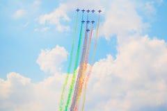 Airshow i Zhukovsky, Ryssland Royaltyfri Fotografi