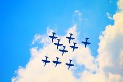 Airshow i Zhukovsky, Ryssland Fotografering för Bildbyråer