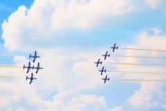 Airshow i Zhukovsky, Ryssland Royaltyfria Foton