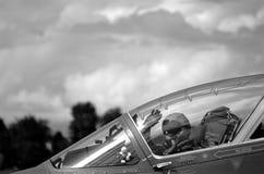 Airshow Italy wojskowy pilotuje Fotografia Royalty Free