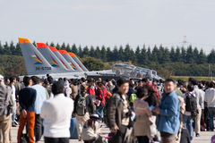 Airshow by Japanese Air Self Defense Force stock images