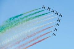 Airshow in Kecksemet, Hongarije Royalty-vrije Stock Fotografie