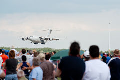 Airshow in Kecksemet, Hungary Royalty Free Stock Photography