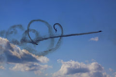 Airshow. Kiev scy clouds Planes in the sky Stock Image